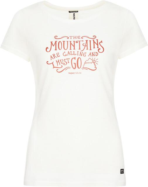 super.natural Print T shirt Damer, fresh whitetandoori mountain call print